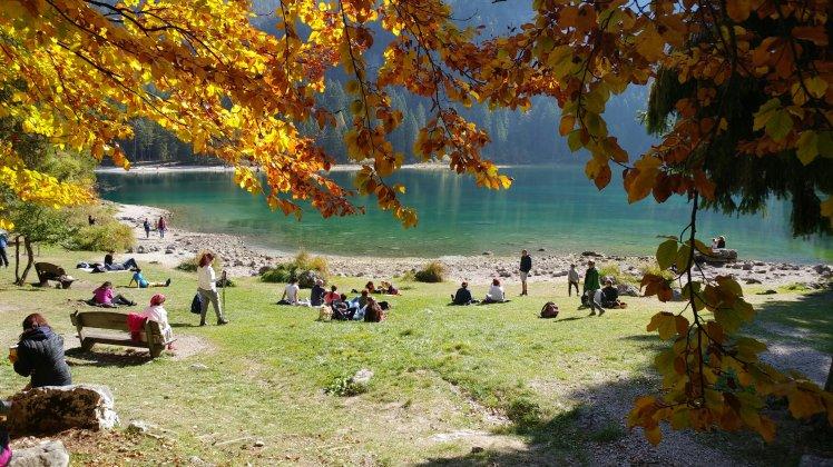Relax presso il lago di Tovel